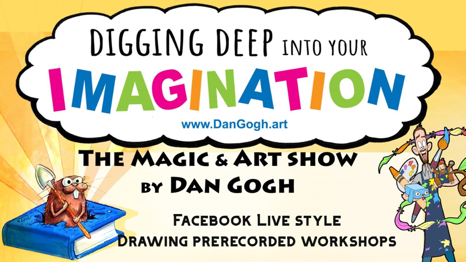 VIRTUAL Magic and Art Show with artist Dan Laib
