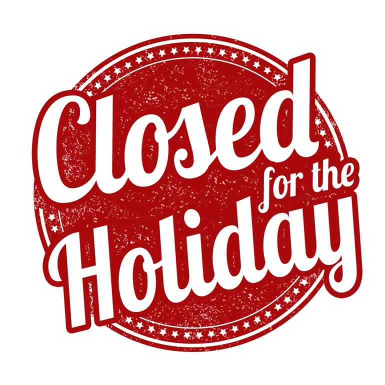 Library is Closed - Christmas Eve