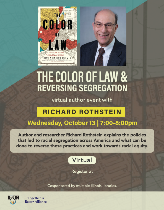 (Virtual) The Color of Law & Reversing Segregation with Richard Rothstein
