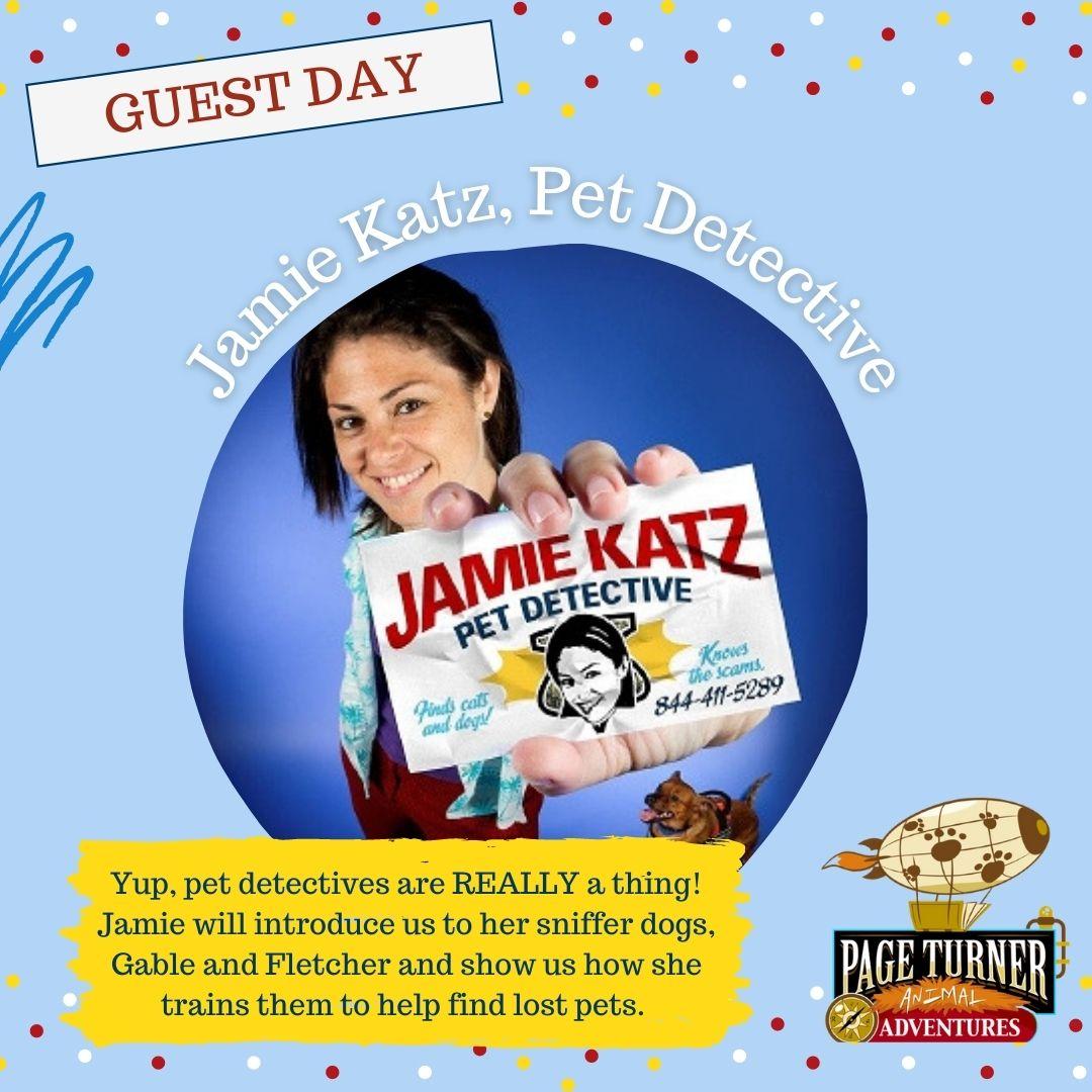 (Virtual) PTA: Guest Day - Pet Detective Jamie Katz