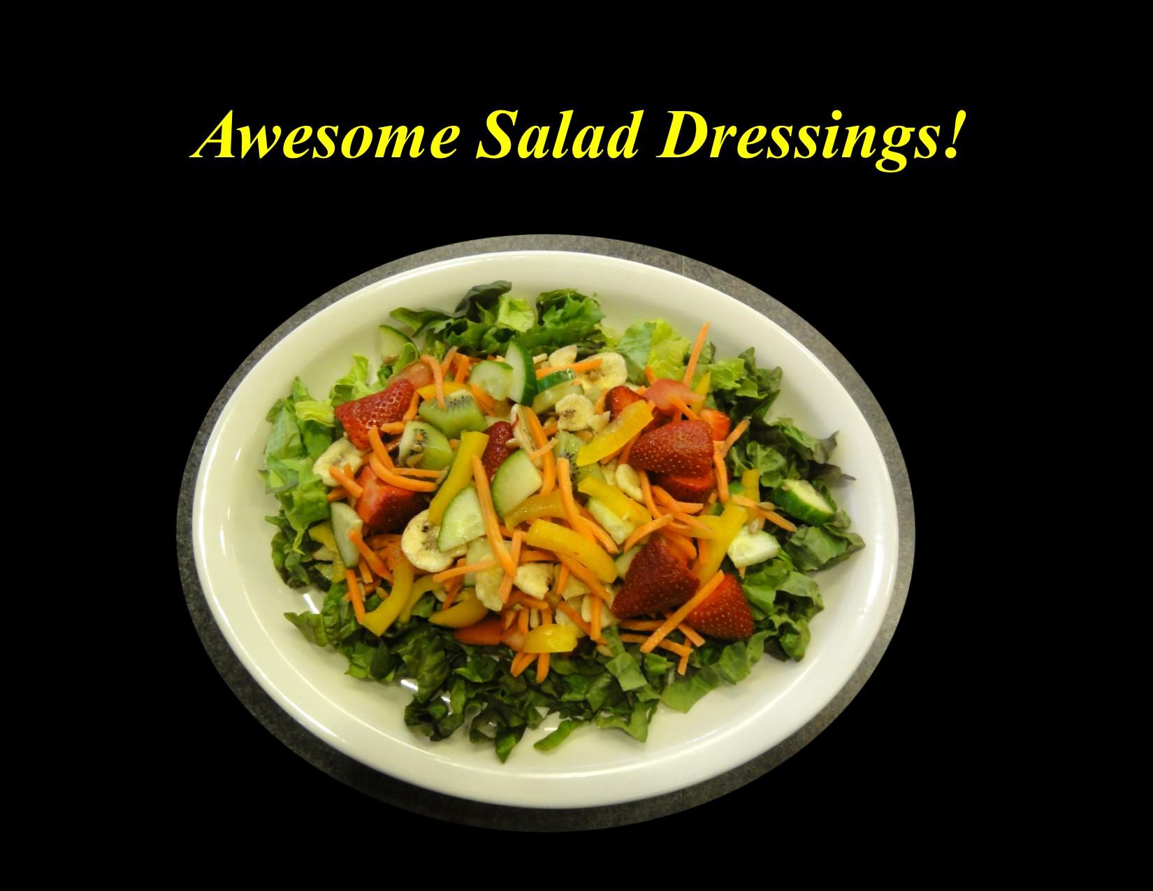 (Virtual) Tasty Tuesdays: Awesome Salad Dressings